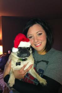 Christmas 2011.Miss my little Santa Paws.