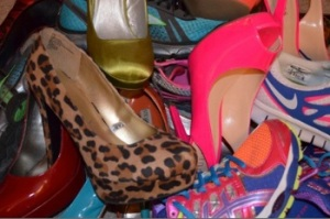 The mess known as the floor of my closet...I love them!