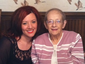 My Grandma and I celebrating her 90th Easter!