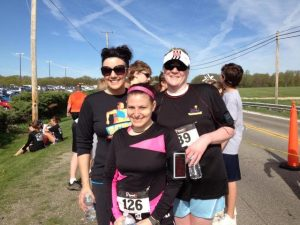 My most recent race, Kelly's Grief 5K, with my running pals Andrea and Sharon!