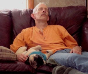 One of my favorites of my two favorite men: nap time a few year ago