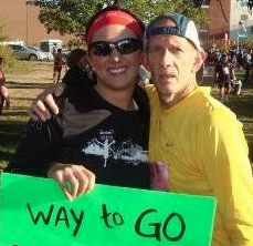 Running in the Akron Marathon together