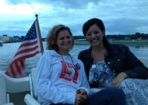 On the lake for an awesome firework display!