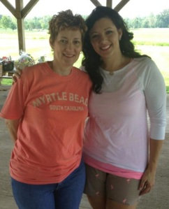 "My mom and I at the 18 ""Fore"" Andy Fundraiser. We raised over $13, 400!"
