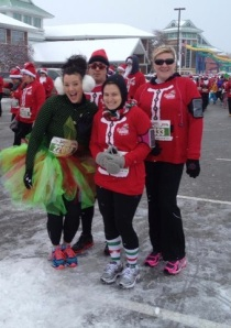 Santa Hustle 5K: Coldest Run of my life. Ecstatic it got me to 31!