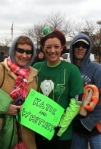 Shamrock 5k…my parents braved the chilly temps to come cheer me on in my first race of the year!