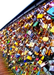 An item from my super long not so scary Bucket List…. Going to Paris and placing a lock on  Lover's Lock Bridge! Thanks, Pinterest for this beautiful photo.