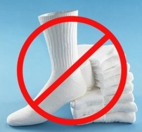 Just say NO to socks!!! www.google.com