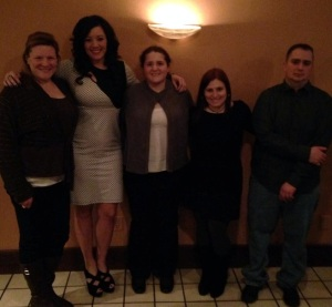 Andrea, Me, Sarah, Sharon, and Gary. Only one missing is Steve!