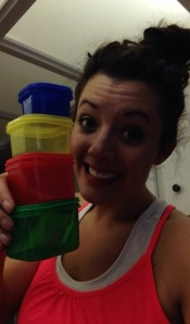 Ahhhh I love that these little containers double as measuring cups!