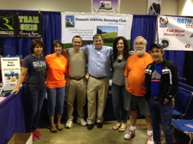 Akron Marathon Expo with some fellow board members and volunteers.