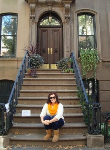 Old school pic of me on Carrie Bradshaw's stoop. Please Note: #Uggstrong