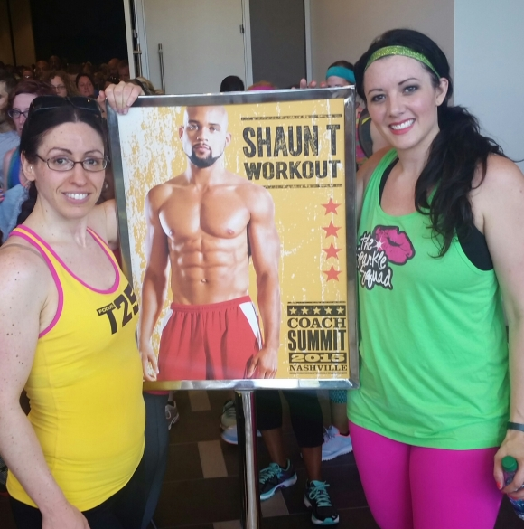 Workout with Shaun T...check!
