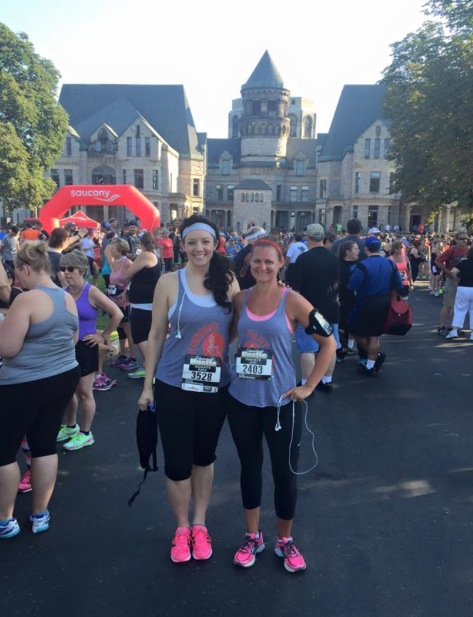 Got to run another race with one of my BFFS, Jodi!