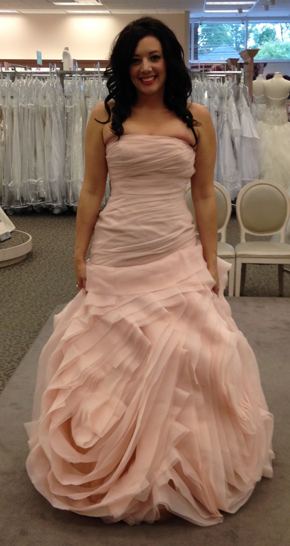 The first time I got to try on my dress!